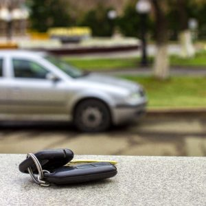 lost car keys on a marble slab