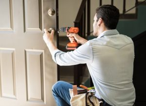 Locksmith Servicing a lock
